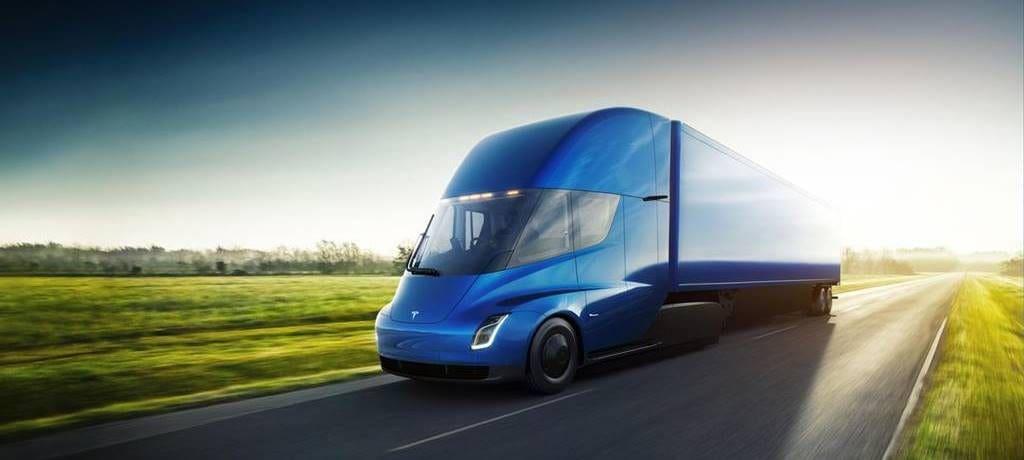 테슬라 자율주행 트럭 테슬라 세미 전면+옆면 이미지 Tesla Semi Semi_Front & side Profile.