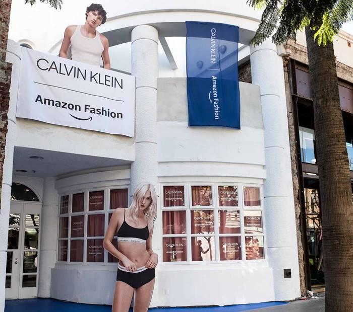 아마존과 캘빈클라인 팝업 LA 스토어 Calvin Klein X Amazon Fashion holiday retail experience