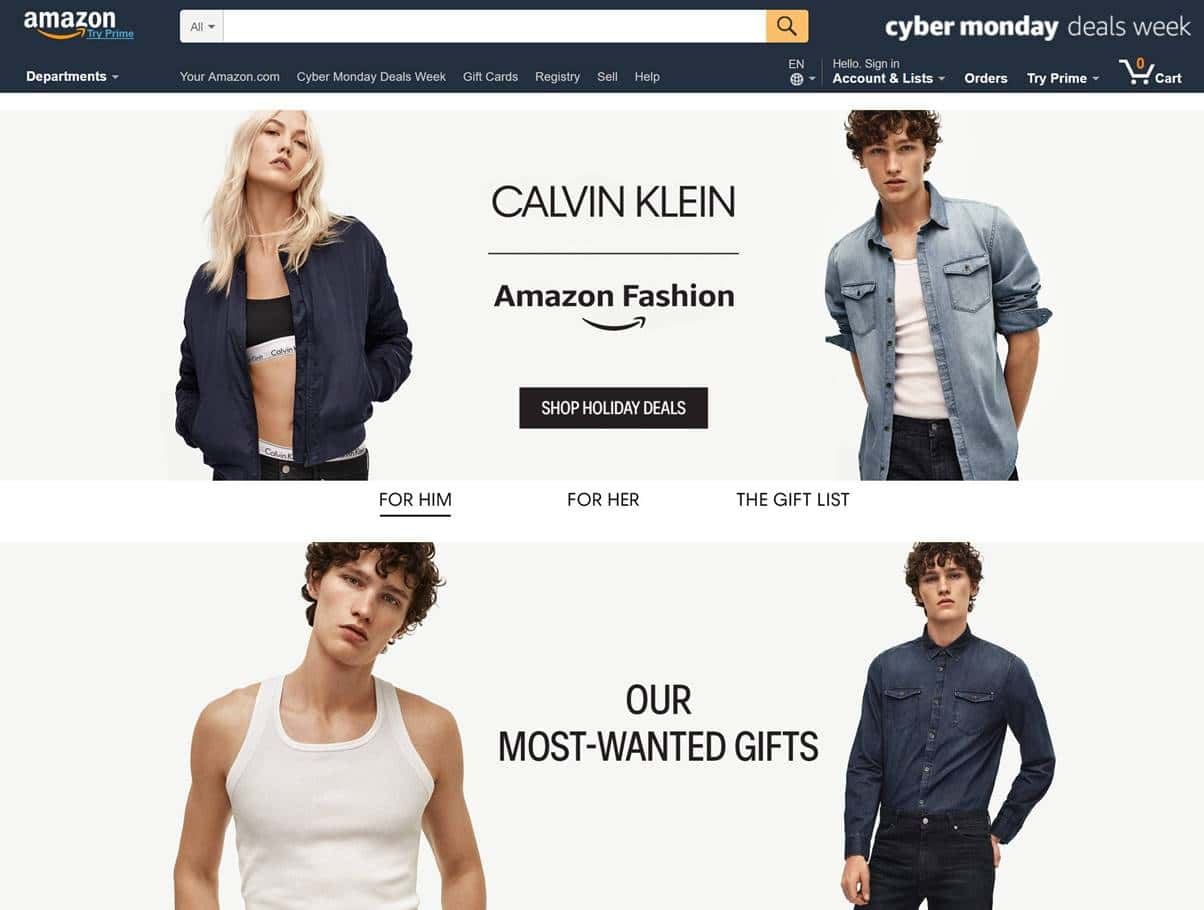 아마존닷컴내 캘빈 클라인섹션 Calvin Klein in Amazon.com