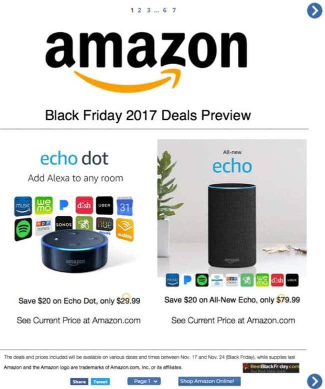 아마존 블랙 프라이데이 광고 Amazon 2017 Black friday deals