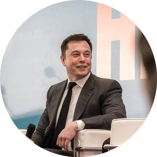 앨런 머스크 웃는 모습 Elon Musk02 원형