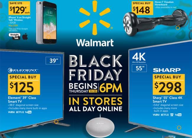 월마트 2017 블랙 프라이데이 광고 Walmart Black Friday 2017 deals