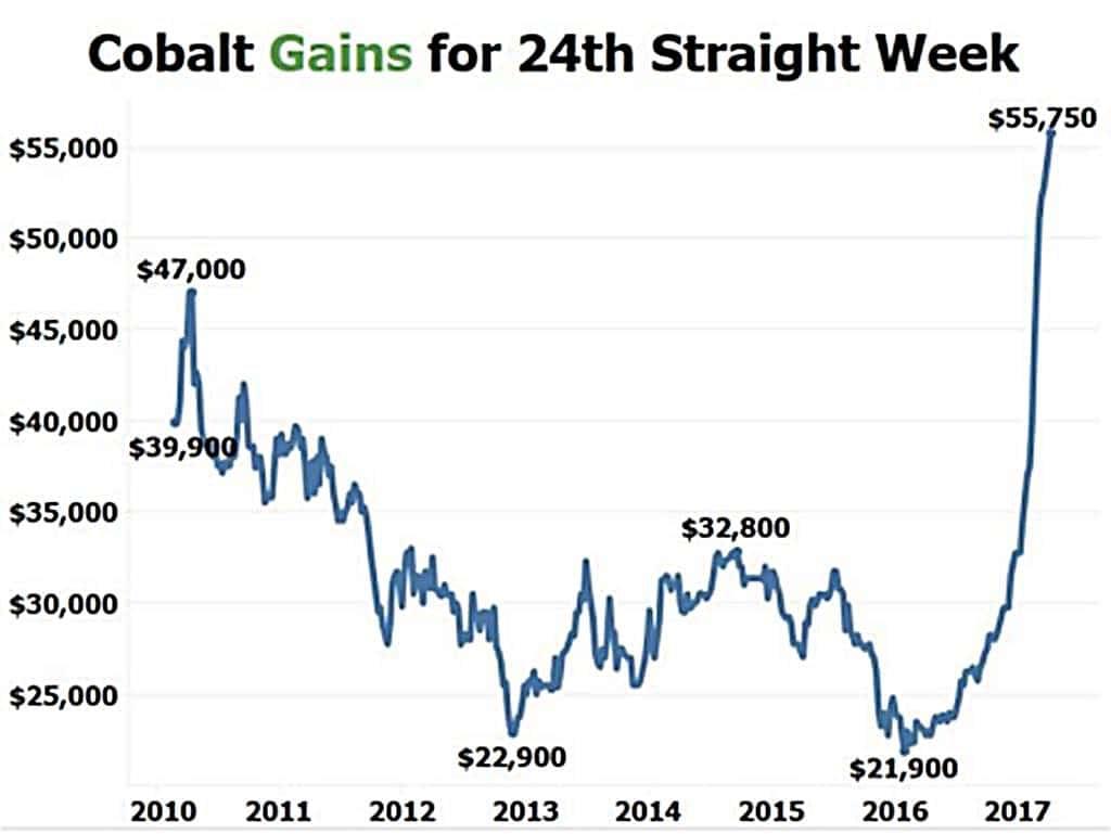 코발트 가격추이 Cobalt Price Trend