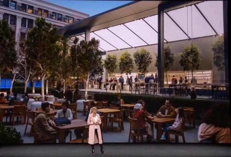 애플 타운 스퀘어 소개 Apple Store Apple Town SquareThe Future of Apple Stores - Keynote 2017.mp4_20180131_063148.747-001