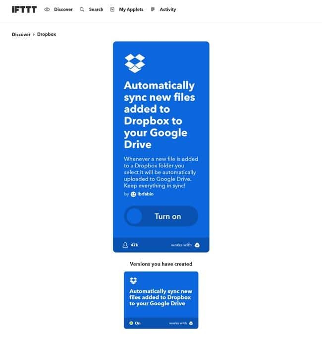 IFTTT Dropbox 에서 구글 드라이브로 복사 01 ifttt-applets-54687p-automatically-sync-new-files-added-to-dropbox-to-your-google-drive-1516621022500