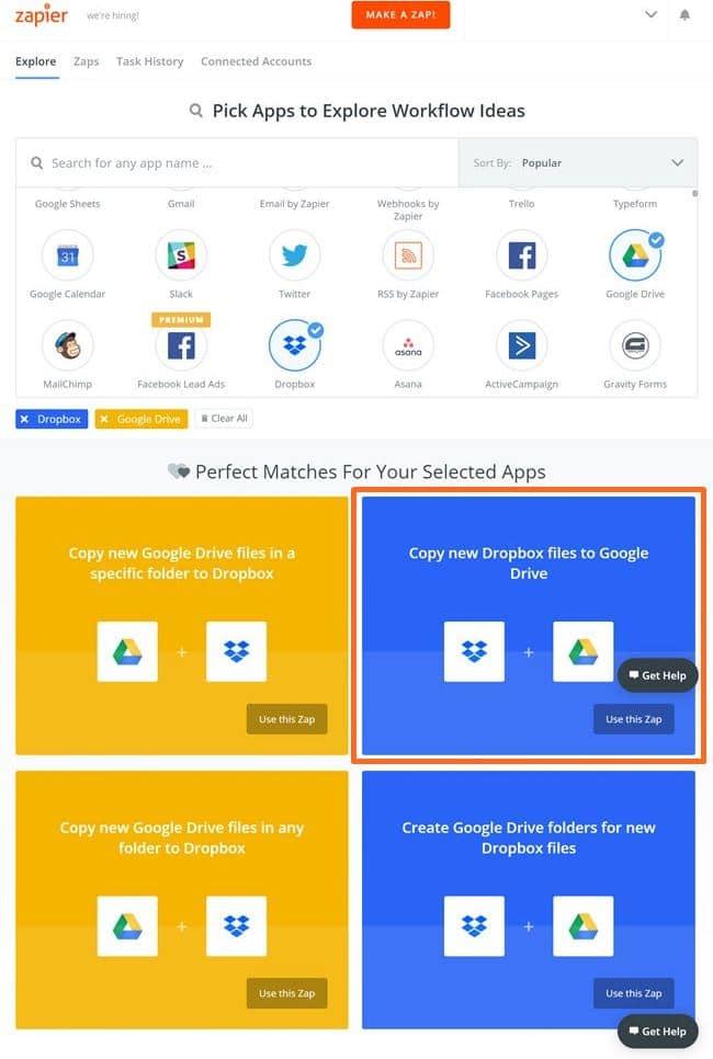 Zapier 사용법_Dropbox에서 구글 드라이브로 복사 선택_screencapture-zapier-apps-integrations-1516622360594