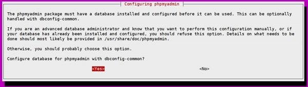 phpMyAdmin 설치 시 나타나는 메세지