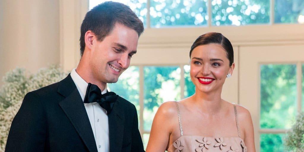 스냅쳇 CEO 에반 스피겔(Evan Spiegel)과 미란다 커(miranda ker) Snapchet CEO Evan Spiegel & Supermodel Miranda Kerr