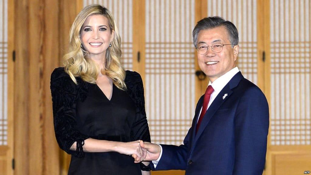 청와대를 방문중인 이방카고문 트럼프 미대통령 맏딸
