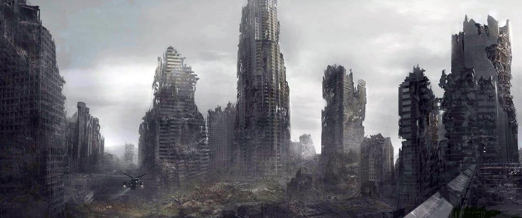 터미네이터4 페허가 된 LA 크리스찬 베일 christine bale terminator salvation terminator 4