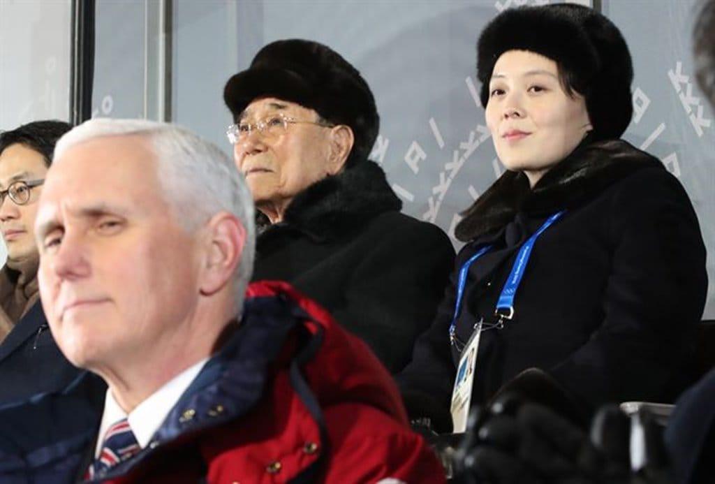 평창올림픽 개막식 펜스부통령과 김여정