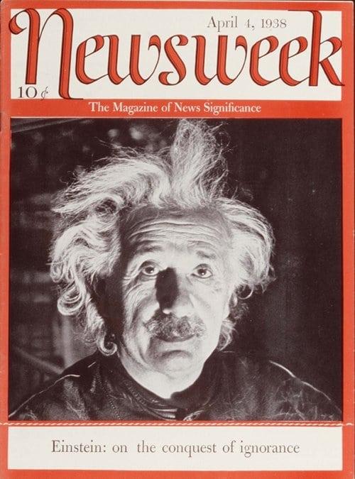 뉴스위크의 유명한 커버들 Newsweek's Iconic Covers 1938년 4월 4일 아인슈타인 19380404