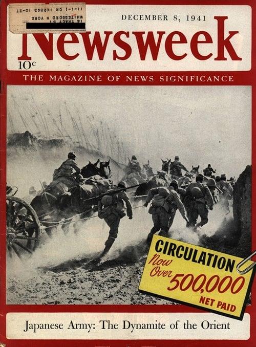 뉴스위크의 유명한 커버들 Newsweek's Iconic Covers 1941년 12월 8일