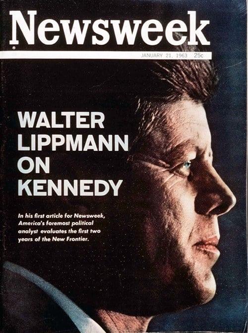 뉴스위크의 유명한 커버들 Newsweek's Iconic Covers 1963년 1월 21일 케네디 대통령