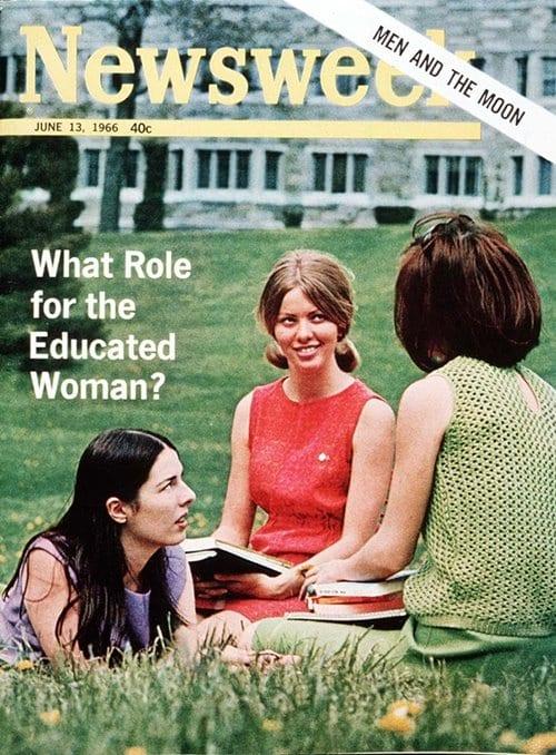 뉴스위크의 유명한 커버들 Newsweek's Iconic Covers 1966년 6월 13일 교육받은 여자들의 역활