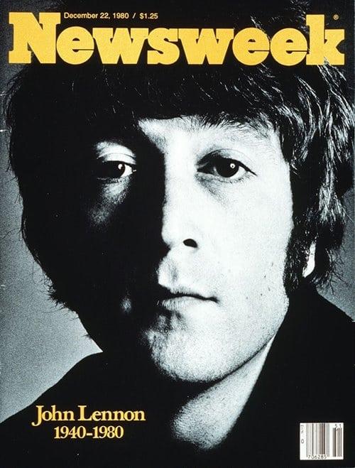 뉴스위크의 유명한 커버들 Newsweek's Iconic Covers 1980년 12월 22일 존 레논 사망 19801222
