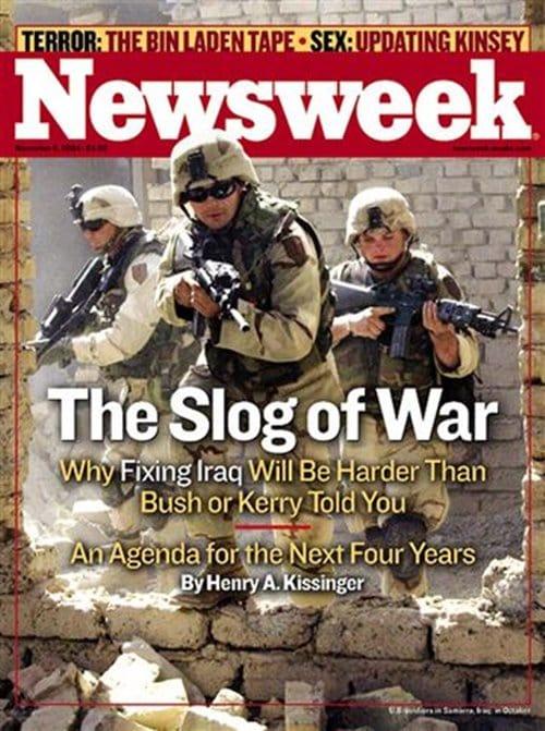 뉴스위크의 유명한 커버들 Newsweek's Iconic Covers 2004년 11월 8일 이라크 전쟁 The Slog of War
