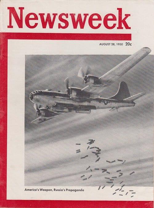 뉴스위크 커버 1950년 8월 28일 한국전쟁 미국의 무기 러시아의 선동 Ameruca's Weapon, Russia's Propaganda