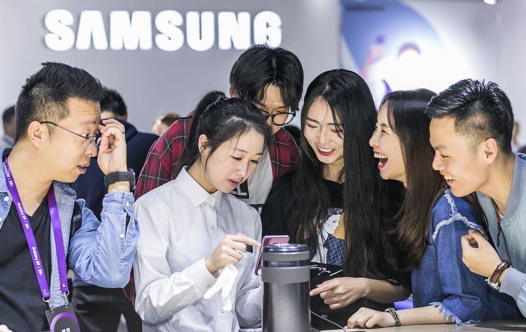 삼성 스마트폰 갤럭시 S9 중국 런칭 행사장 모습