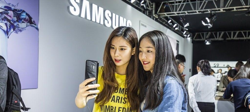 삼성 스마트폰 갤럭시 S9 중국 런칭 행사장 모습02
