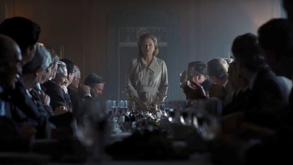 영화 더 포스트(The Post) 워싱턴 포스트 상장을 위한 투자자 미팅에서 연설하는 메릴 스트립 Meryl Streep