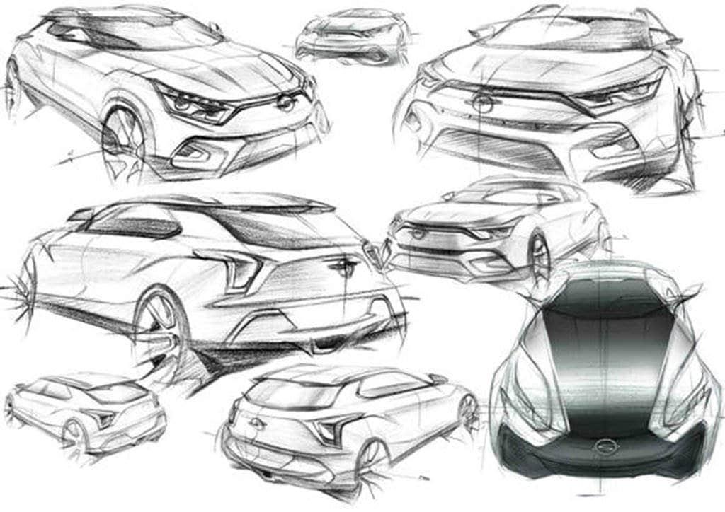 티볼리 아이디어 스케치 쌍용자동차 제공