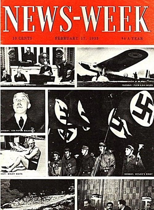 1933년 뉴스위크 최초 본 아돌프 히틀러