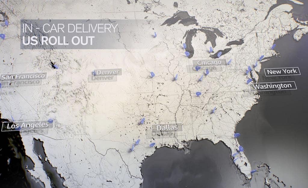 아마존 트렁크 택배 서비스 지역 amazon-in-car-delivery map