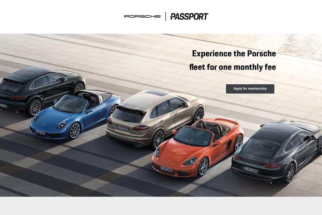 포르쉐 구독 모델 Porsche subscription passport