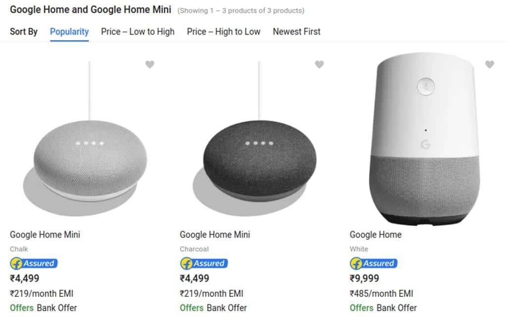 구글 홈 및 구글 홈 미니 인도 판매 Google Home & Google Mini India launching