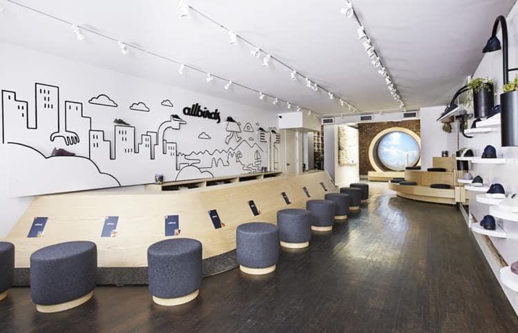 뉴욕 소호거리에 위치한 올버즈 컨셉 스토어 내부 02 allbirds New York store interior