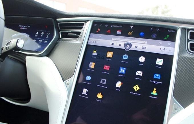 테슬라 내부 계기 LCD 디스플레이 Tesla interior LCD Display