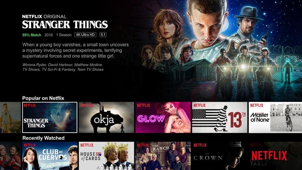 넷플릭스 추천 화면 Netflix Recommandation