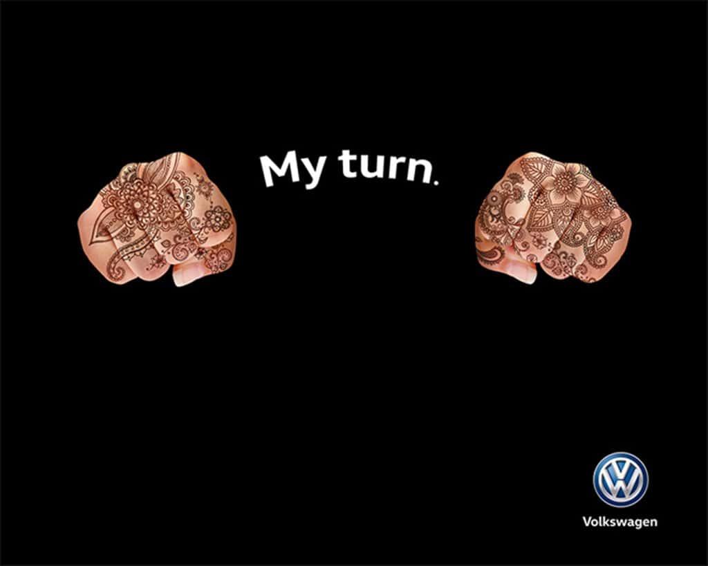 사우디에 여성 운전이 합법화된 후 폭스바겐 광고 Volksbargin advert in Saudi