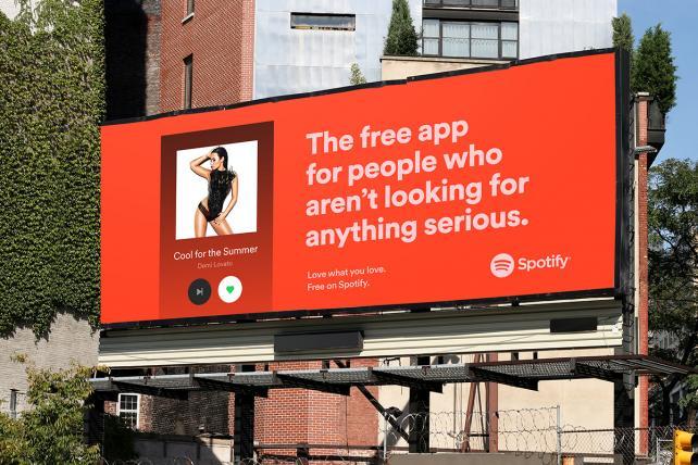 스포티파이 옥외광고 Love What You Love Credit Spotify Spotify OOH 스포티파이 제공