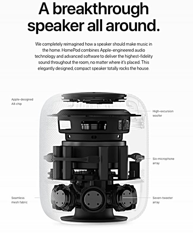 애플 홈팟 기술 사양 Apple Technical Specs of HomePod