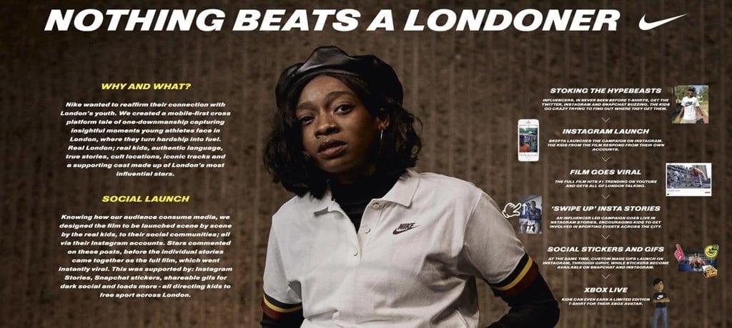 2018 칸 영화제 그랑프리 나이키 Nothing Beasts a Londoner 01