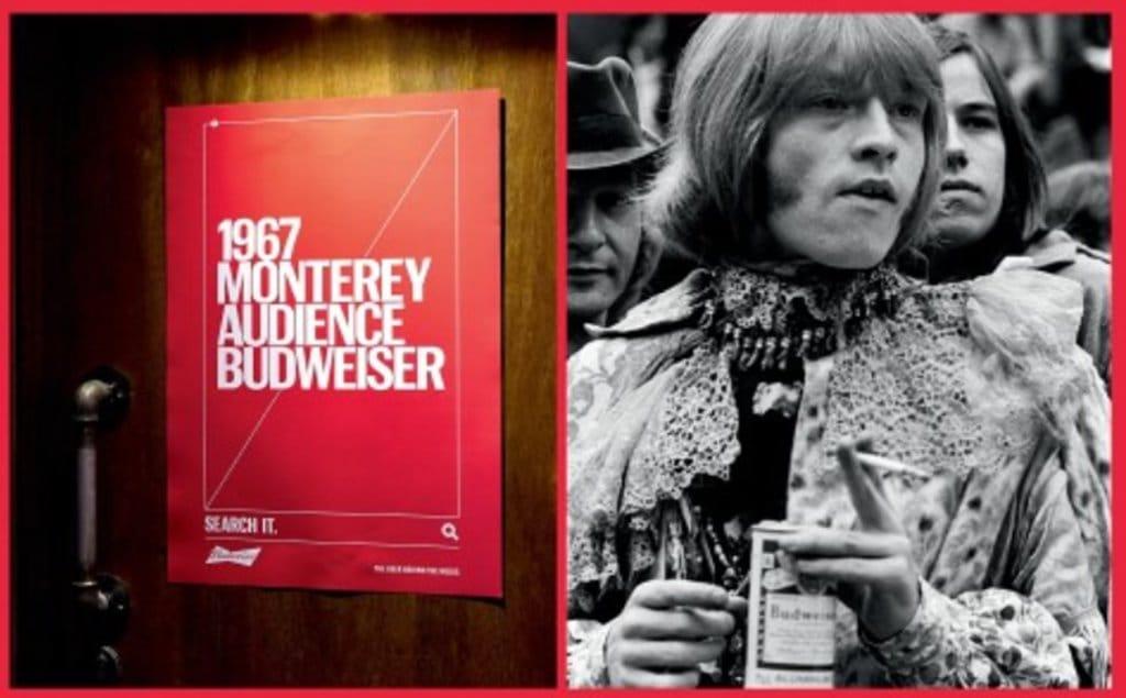 버드와이저 2018 칸 국제영화제 그랑프리 TAGWORDS 옥외광고_1967 Monterey Audience Budweiser