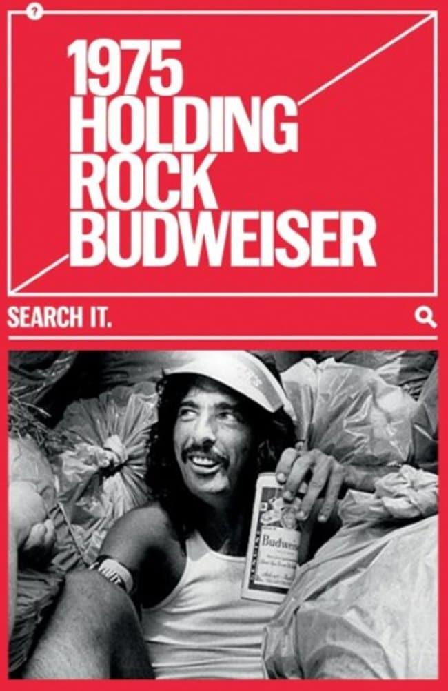 버드와이저 2018 칸 국제영화제 그랑프리 TAGWORDS 옥외광고_1975 Holding Rock Budweiser