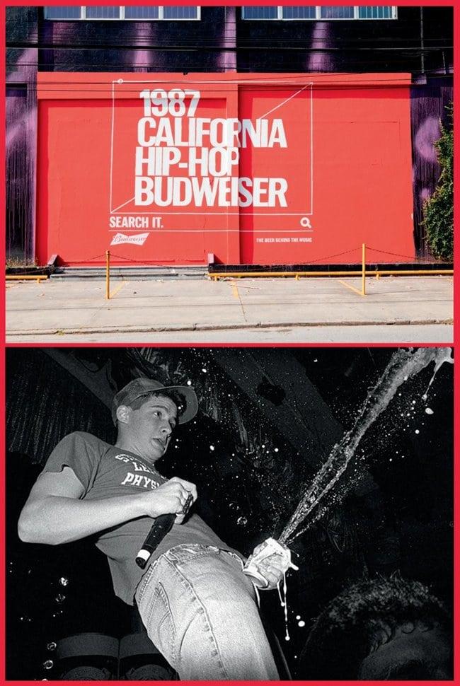 버드와이저 2018 칸 국제영화제 그랑프리 TAGWORDS 옥외광고_1987 California Hip-Hop Budweiser