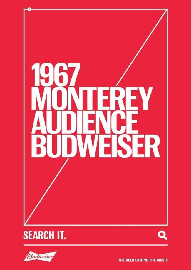 버드와이저 2018 칸 국제영화제 그랑프리 TAGWORDS 1967 Monterey Audience budweiser
