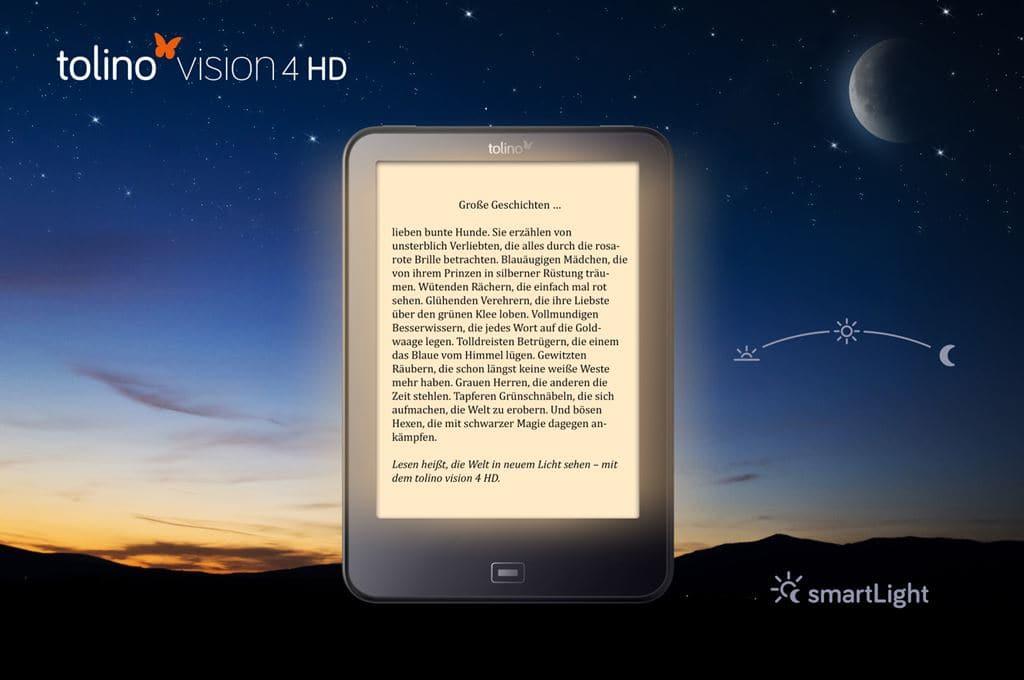 독일 이북 업체 톨리노 이북 리더기 비젼 4HD(ebook Reader Vision 4HD) 라이프스타일 이미지 05 이미지 소스- 도이체텔레콤 Featured