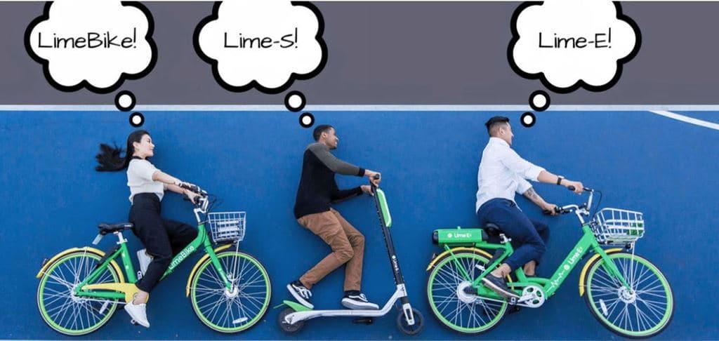 일반 자전거 및 전동 자전거 및 전동 스쿠터 공유 업체 라임바이크(LimeBike)