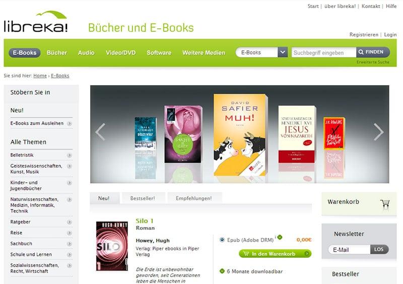 리브레카(Libreka) 사이트