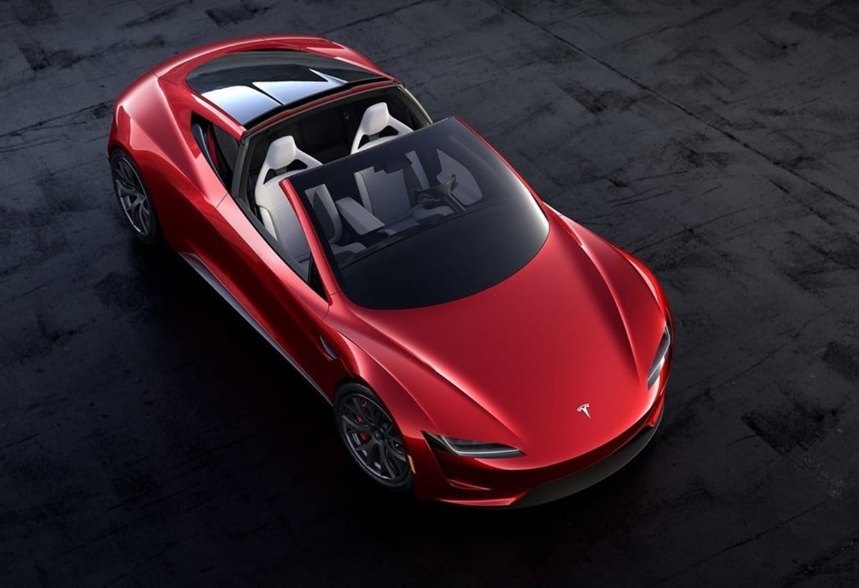 테슬라 차세대 로드스터(Tesla Roadster 2020) 공중에서 내려다 본 에어 샷, Image - Tesla