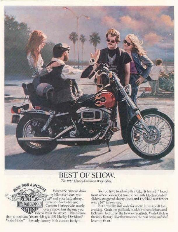 1981년 할리 데이비슨 광고, Harley davidson Wide Glide 1981