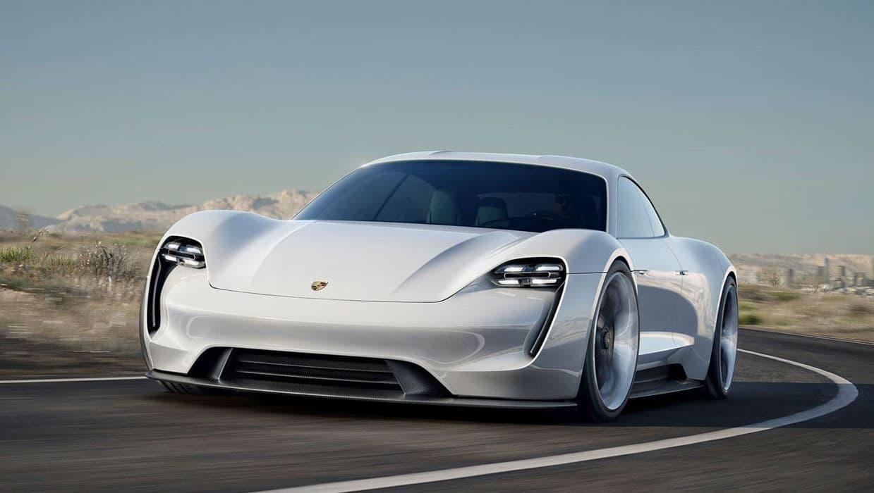 2018년 발표 포르쉐 전기자동차 Taycan 전면, image - Porsche