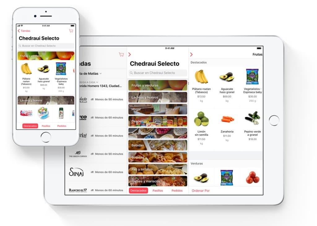 맥시코와 칠레 기반 이커머스 배송 서비스 업체 코너샵(cornershop) 모바일 및 태블릿 앱