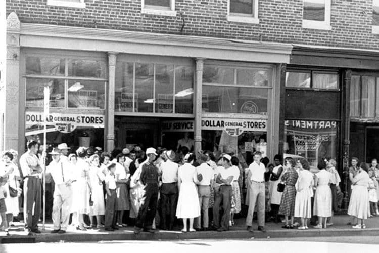 미국 유통업체 달러 제너널(Dollar General) 최초 매장 개장 모습, Image - Dollar General