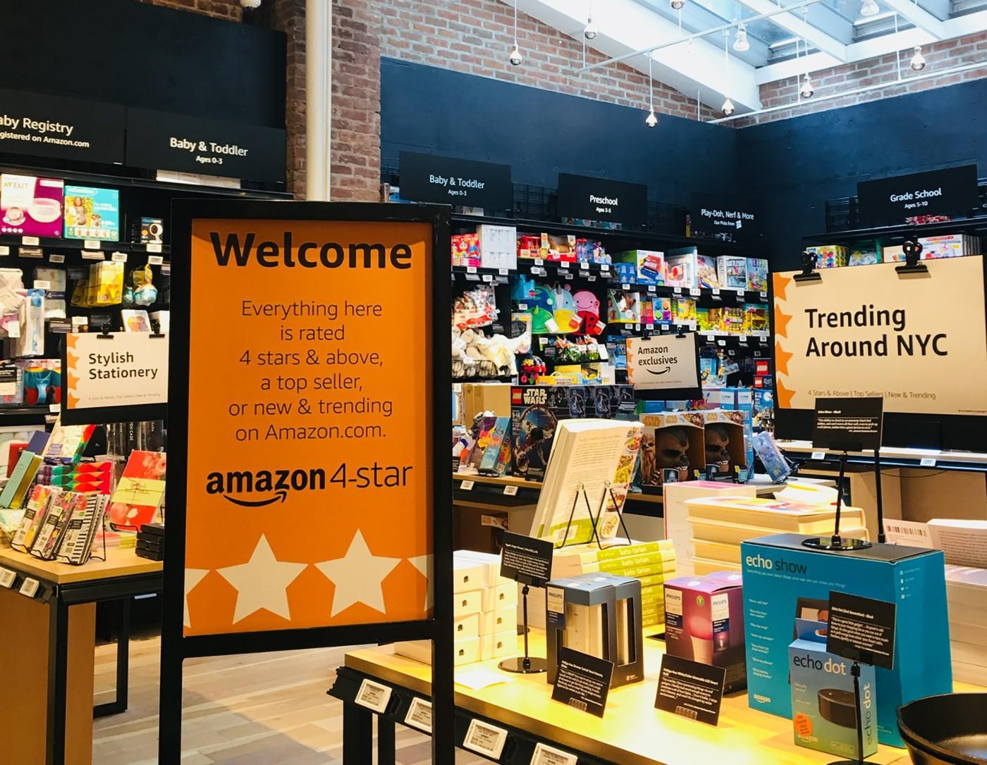 아마존 오프라인 매장, Amazon 4 Star, Welcome Section